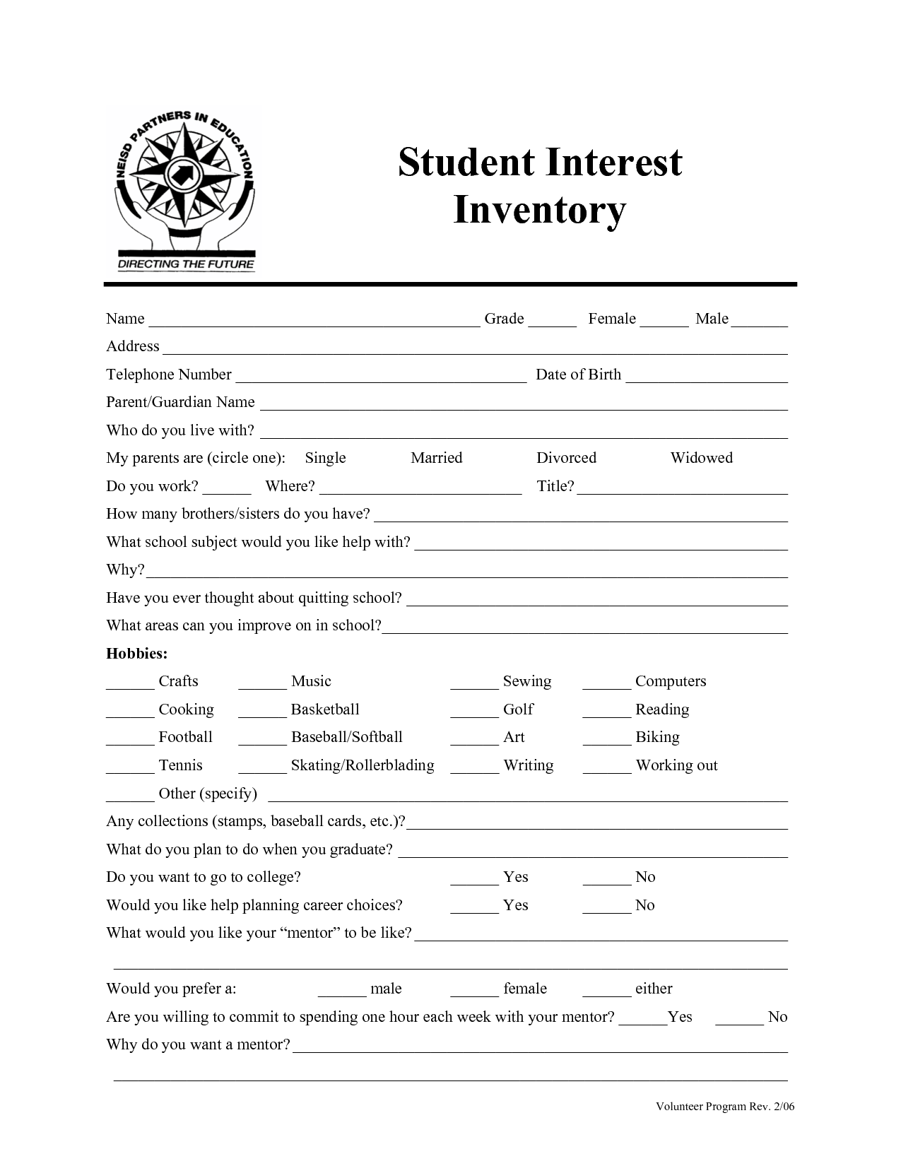 Career Survey For Middle School Students Homeschooling A