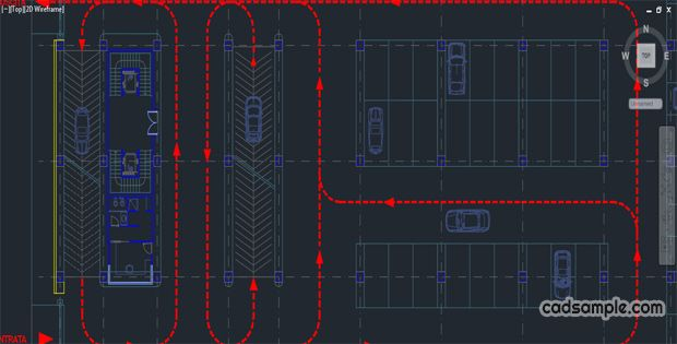 Car Parking AutoCAD Drawing 2 Plan Of A Multi storey Ramps Up