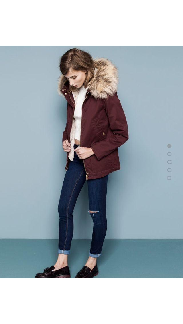 Pull and Bear burgundy jacket