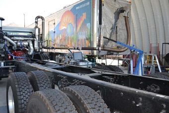 UC Riverside - HD Chassis Dyno with emissions measurement capability and driving cycle simulation