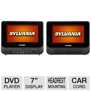 Sylvania 7 Dual Screen Portable Dvd Player By Curtis