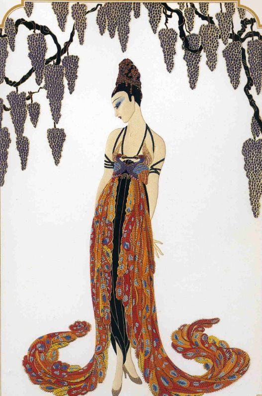 """#Erte#Style#Design - """"Feather Gown"""""""