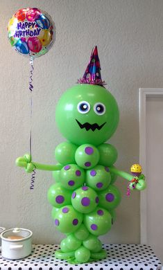Kids Birthday Party Balloon Decorations Jrs 1st birthday