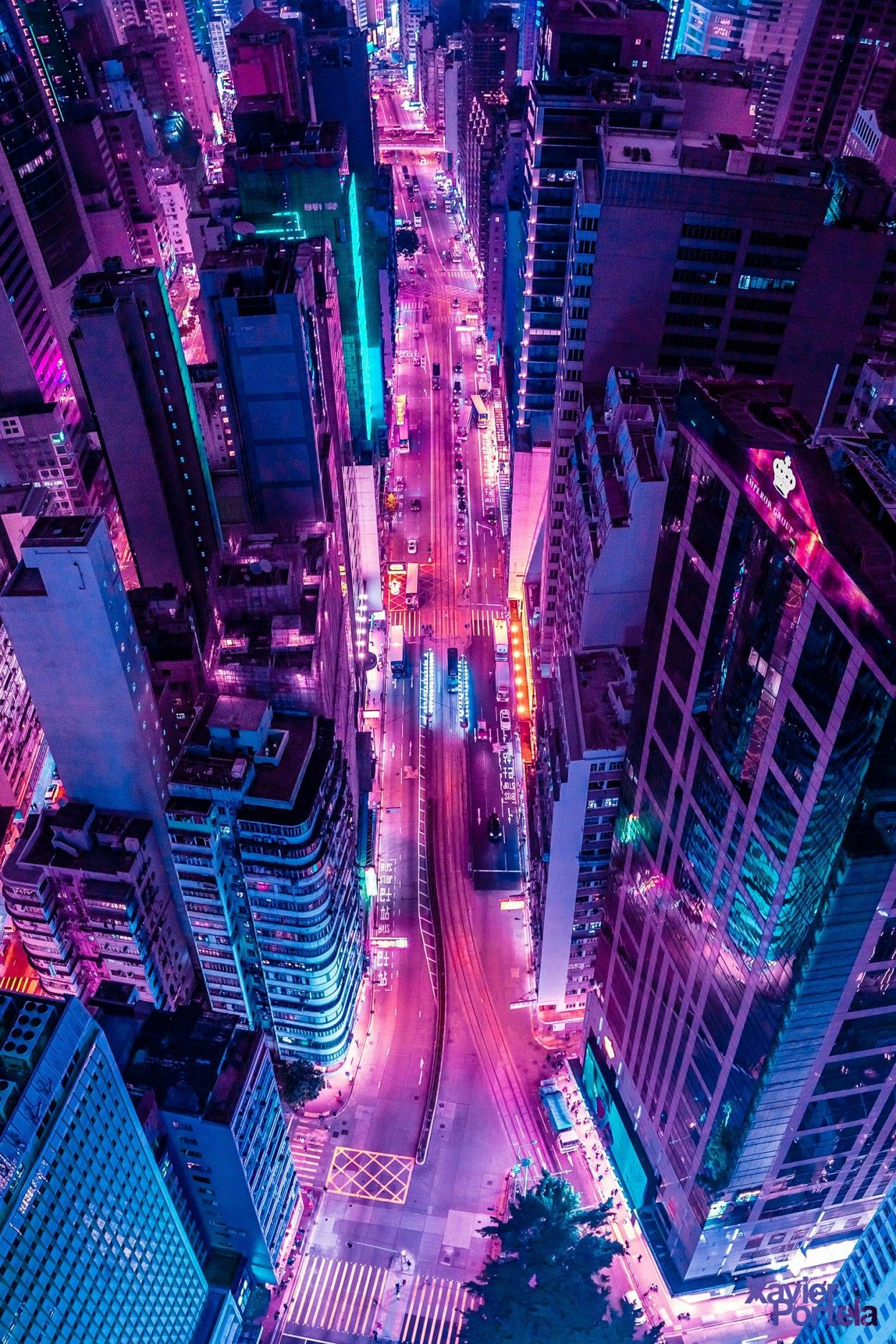 Aerial Explorations Of International Cityscapes Washed In A Neon Glow By Xavier Portela Neon Wallpaper Neon Aesthetic Aesthetic Wallpapers