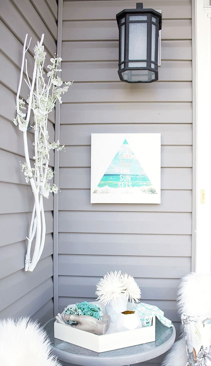 Learn how to weather proof indoor art for outdoor use in this simple, step-by-step tutorial. You won't believe just how easy it is to decorate…