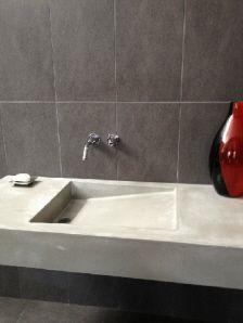 Sink Top Tile Walls Custom Concrete Concrete Sink Bathroom Sinks