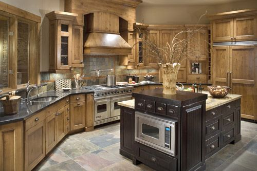old world style kitchens ideas with natural rustic design - Old World Kitchen Cabinets