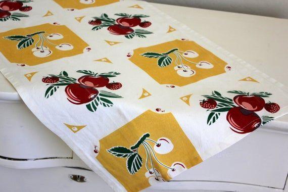 Free Shipping  Kitchen Towel  Cherry Dish Towel  Blue or Yellow Kitchen Decor  Home Decor Free Shipping  Kitchen Towel  Cherry Dish Towel  Blue or Yellow Kitchen Decor  H...