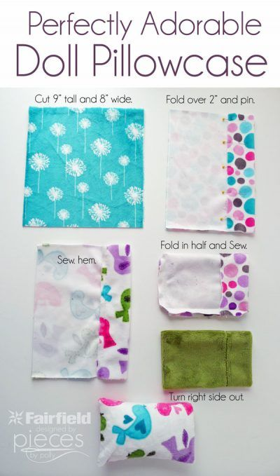 Perfectly Adorable Doll Pillows - Fairfield World Craft Projects #dollaccessories