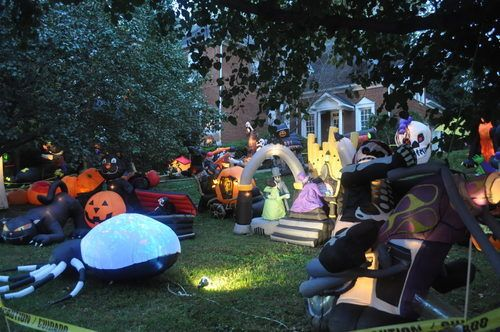 Buckhead House is Like the Mecca of Halloween Inflatables - halloween inflatable decorations