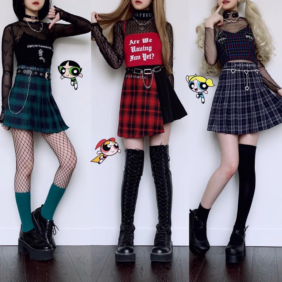 This Post Took Me A While To Prepare But I M Glad I Did It Even Though I M Dead Tired Here Are Powerpuff Girl Fashion Outfits Cool Outfits Kawaii Clothes