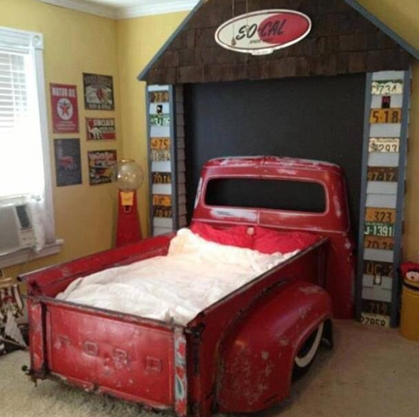 Truck Bed Made From Real Trucks Vintage Car Room Cool Kids