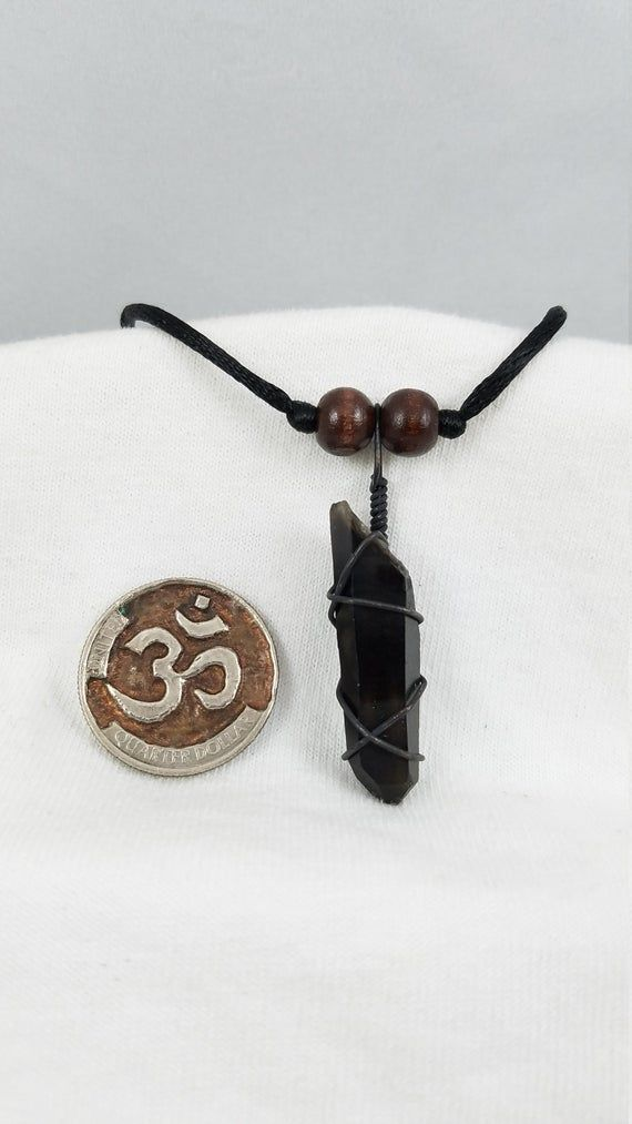Smoky Quartz Necklace - Smoky Quartz Jewelry - Quartz Pendant - Smoky Quartz Point - Quartz Crystal Necklace - Wire Wrapped Jewelry - Reiki #smokyquartz