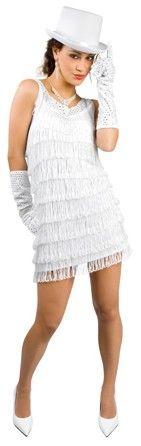 d guisement charleston blanc une tenue chic pour une. Black Bedroom Furniture Sets. Home Design Ideas