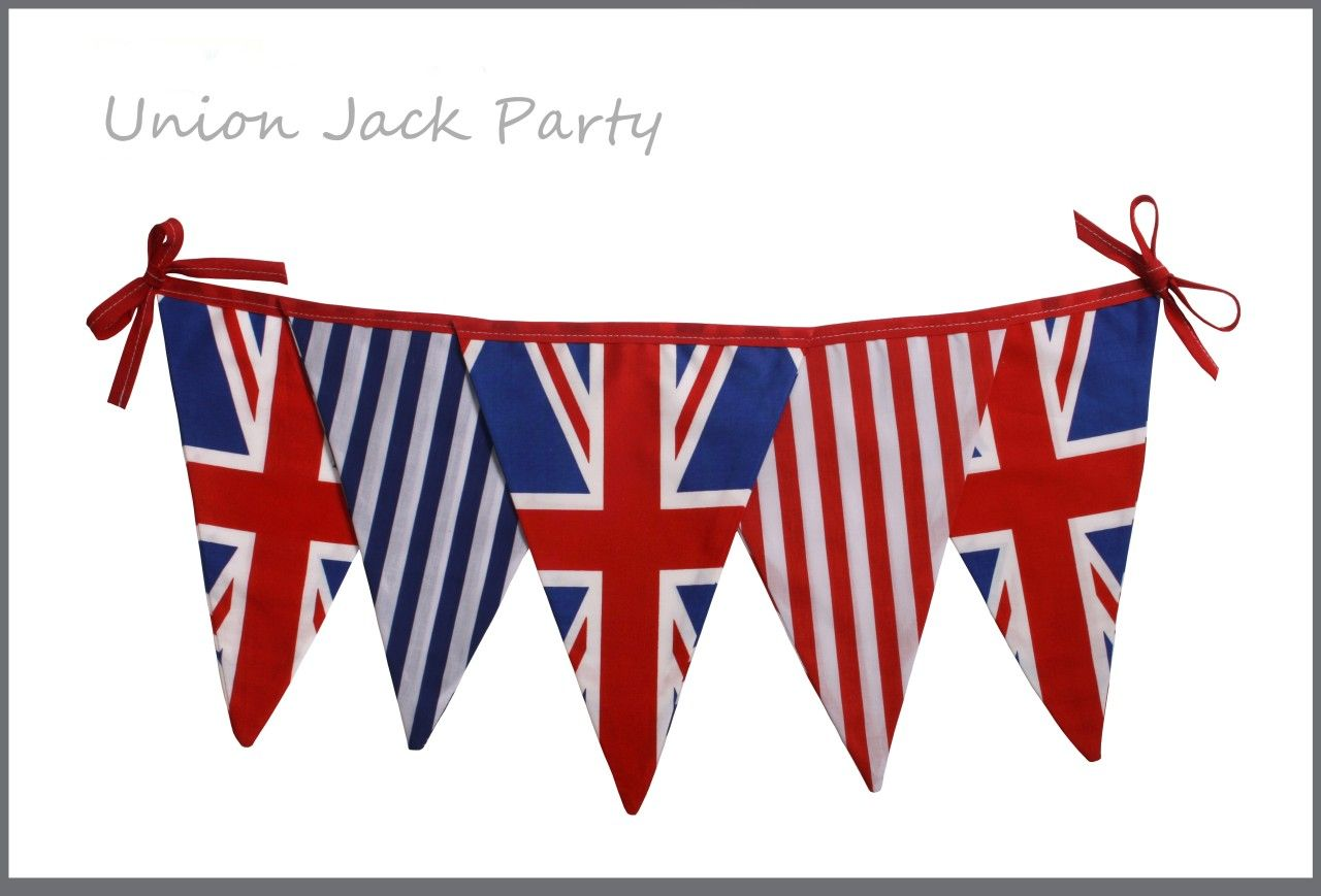 Shabby country vintage chic union jack queens jubilee tea party ...