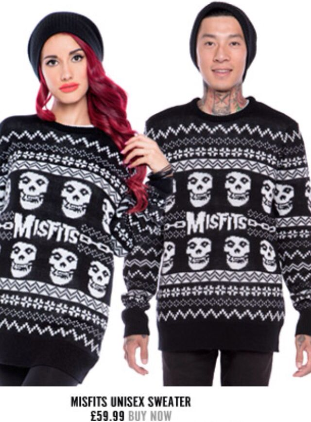 adorable misfits christmas jumpers by iron fist - Misfits Christmas Sweater
