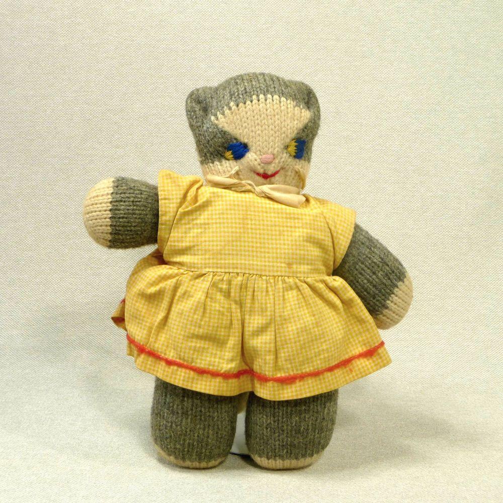Mrs. Ryan's Kitty Cat Toy Stuffed Knit Grand Rapids