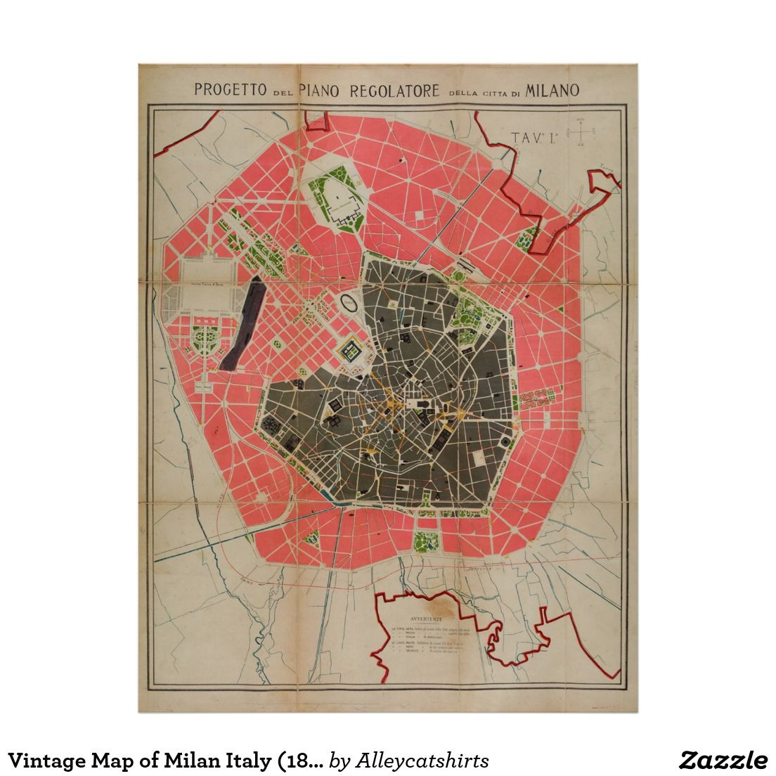 Vintage map of milan italy 1884 poster vintage map posters vintage map of milan italy 1884 poster gumiabroncs Choice Image