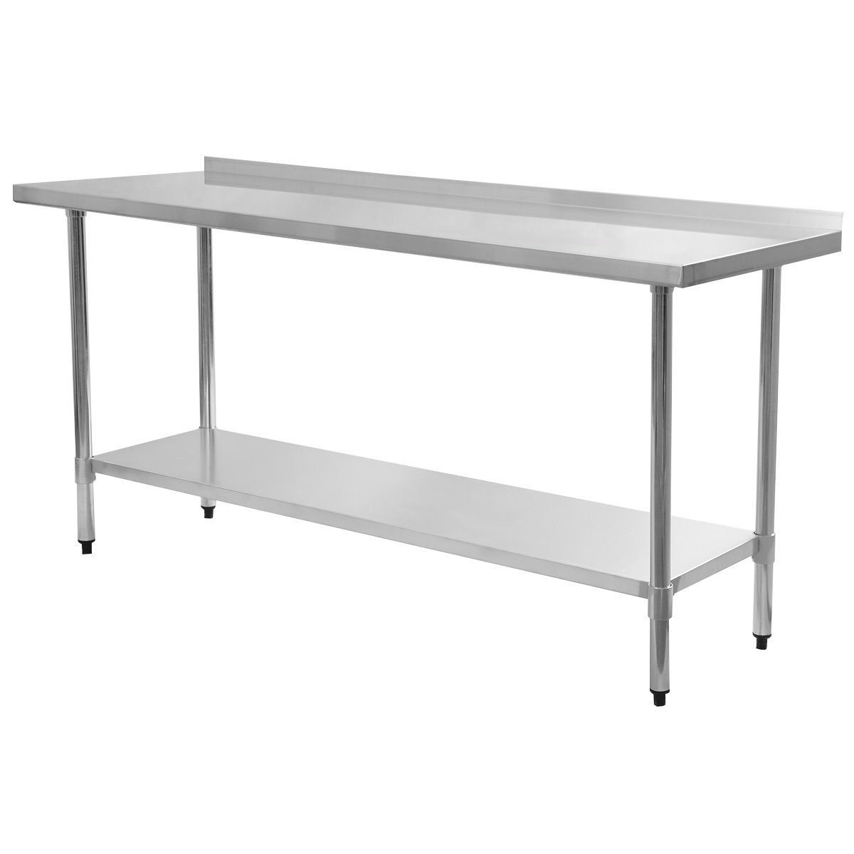 Restaurant Kitchen Backsplash giantex stainless steel work prep table with backsplash kitchen