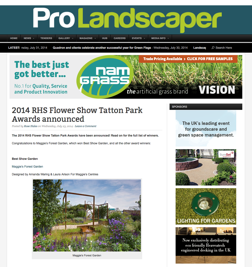ProLandscaper, Rose Hales article