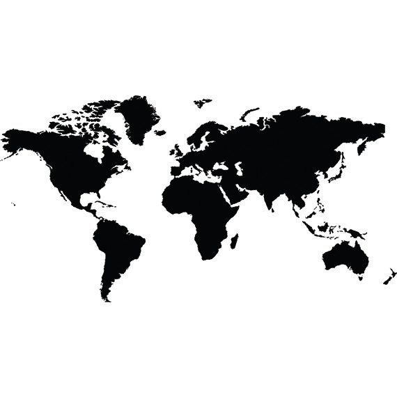 World map svg clipart silhouette   world map vector digital