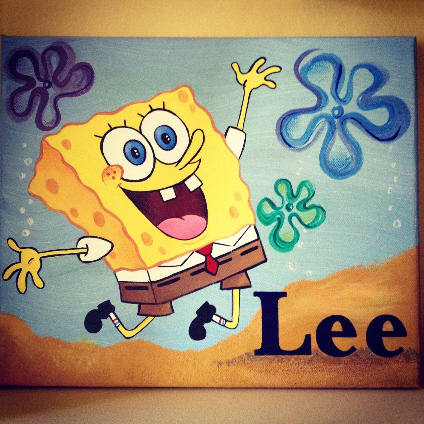 Spongebob! | Painting Ideas | Pinterest | Diy canvas, Canvas artwork ...