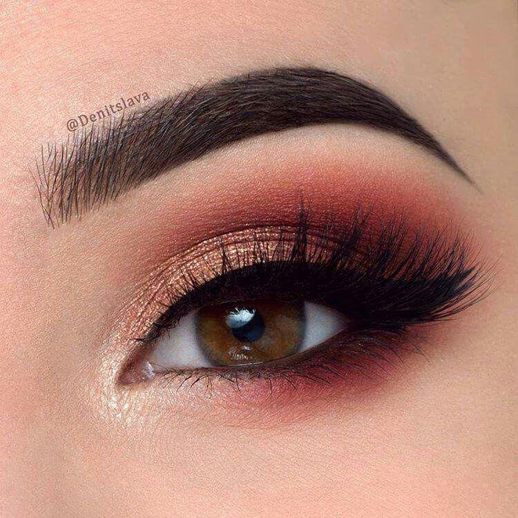 Love this eyeshadow look Makeup looks for brown eyes