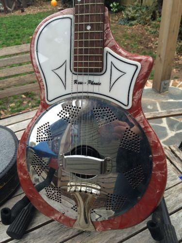 National Reso Phonic Resonator Guitar Pre Resolectric Dobro Round Neck