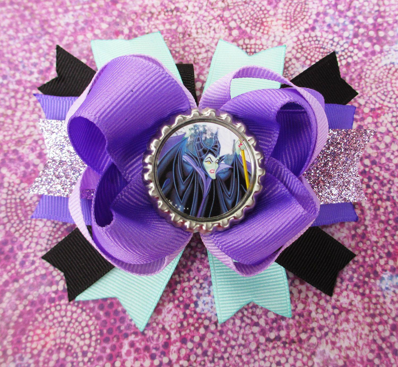 Maleficent hair bow disney headband hair by jaybeepepper on etsy