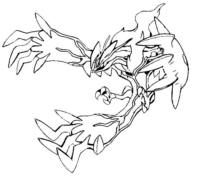 Pokemon Yveltal Coloring Pages Yveltal ピカチュウのイラスト