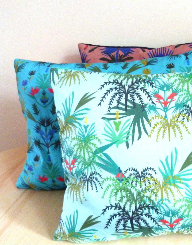 Coussin Palm Blue - Julie Yülle