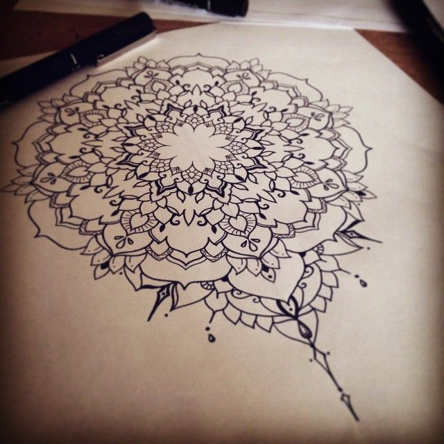 776167b6c Mandala Sketch From Ifigeneia! #mandala #dotwork #dotism #sketch  #ornamental #artwork #design