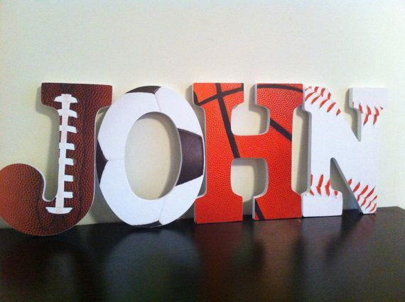 sports wooden letters nursery letters wall by babeecakesboutique diy with wooden letters scrapbook paper