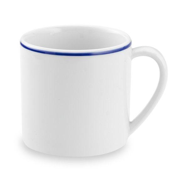 Apilco Tradition Blue-Banded Porcelain Mugs  sc 1 st  Pinterest & Apilco Tradition Blue-Banded Porcelain Mugs | Porcelain White ...
