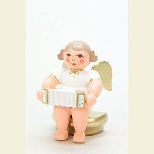Grünhainichen Engel weihnachtsengel orchester w g ulbricht engel weiss gold sitzend