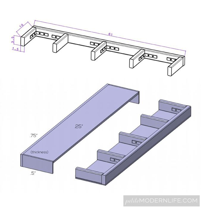 heavy duty floating shelves ideas for the house pinterest rh pinterest com Metal Shelving how to build heavy duty wooden shelves