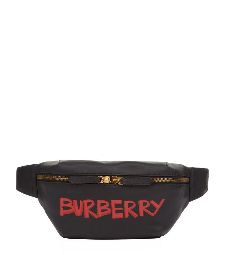 78b49a2e3f7c BURBERRY Leather Graffiti Belt Bag.  burberry  bags  leather  belt bags