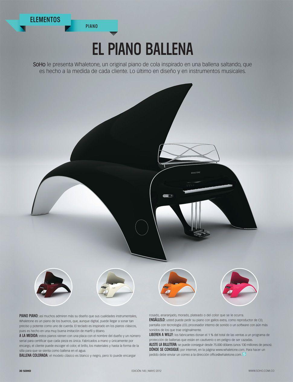 Le Industrial Design el piano ballena soho le presenta whaletone un original piano de