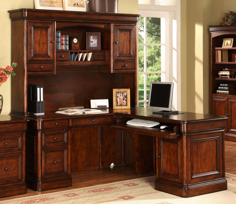 office desk hardware. Villa Toscana Corner Desk W/ Hutch - Brown Cherry Office Hardware