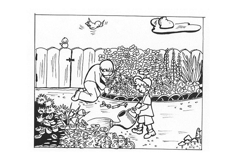 Malvorlagen Im Garten Malvorlage Im Garten Arbeiten Ausmalbild 9605 Herunterladen Comics Art