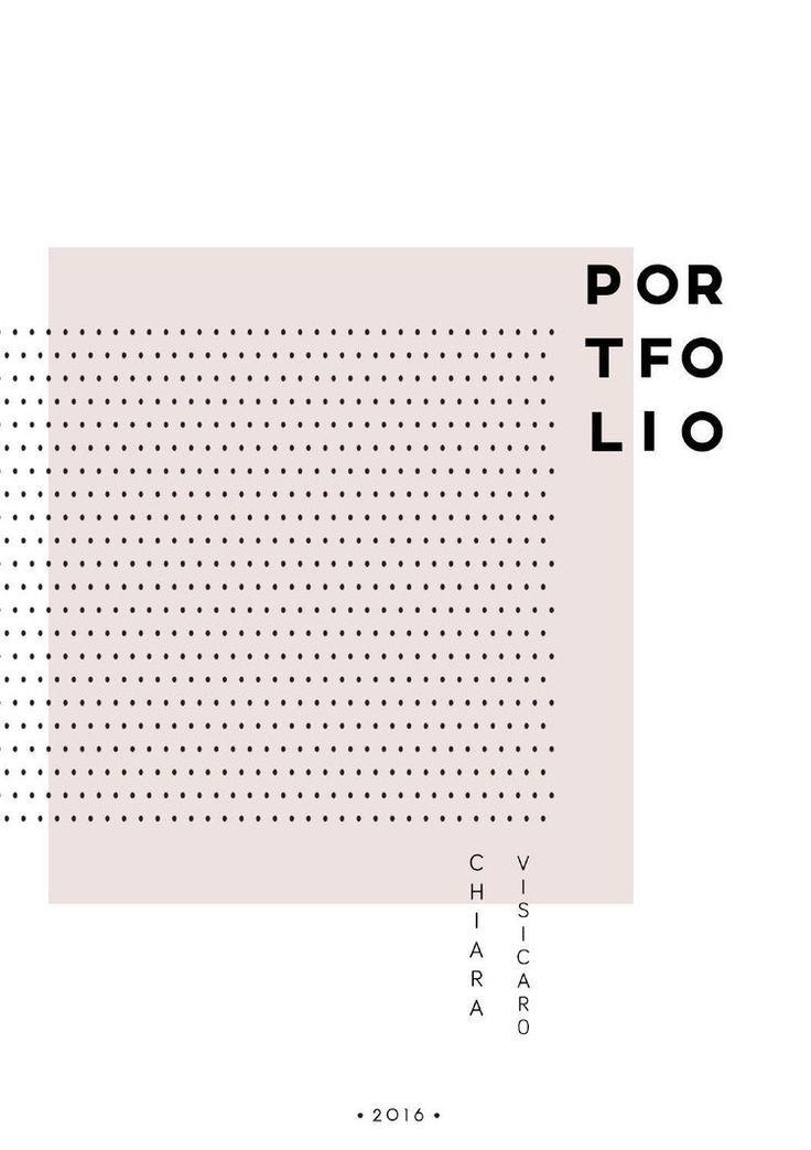 portfolio cover minimal graphic design pinterest