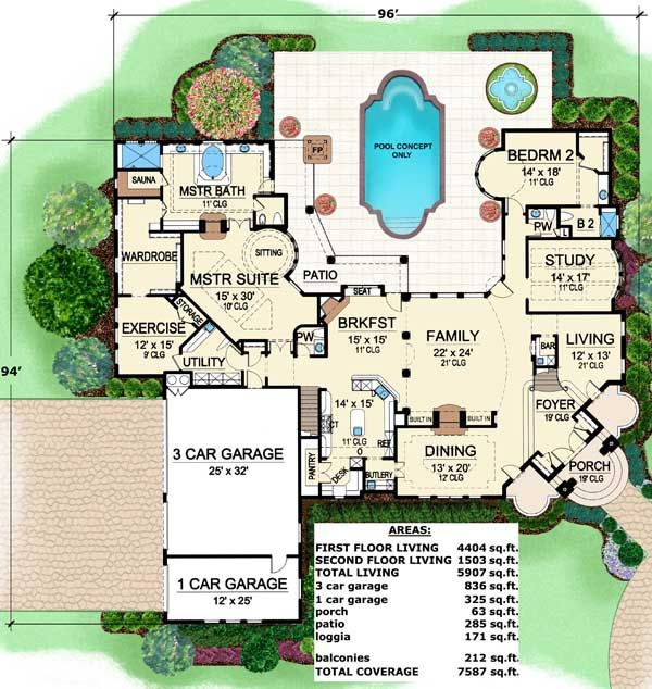 Plan 36132tx Stately Luxury House Plan Luxury House Plans Luxury House House Plans
