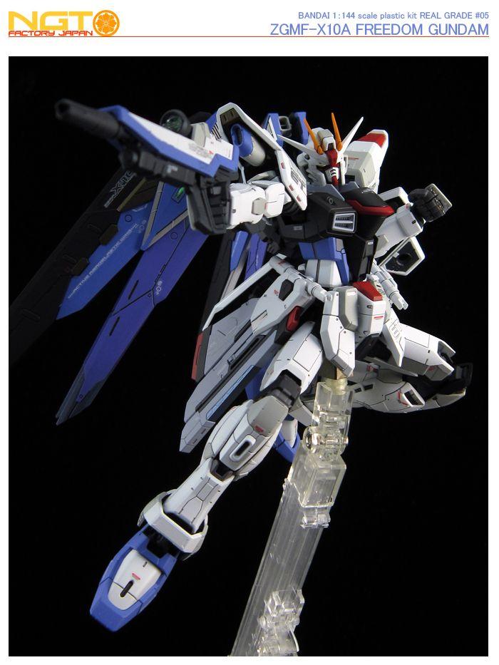 ZGMF-X10A Freedom Gundam GUNPLA RG Real Grade Gundam Seed 1//144 BANDAI