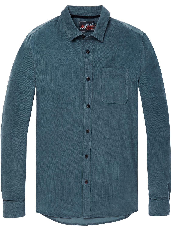 verenigde staten Britse beschikbaarheid hoe te kopen Scotch & Soda Men - Corduroy overhemd met borstzak | Regular ...
