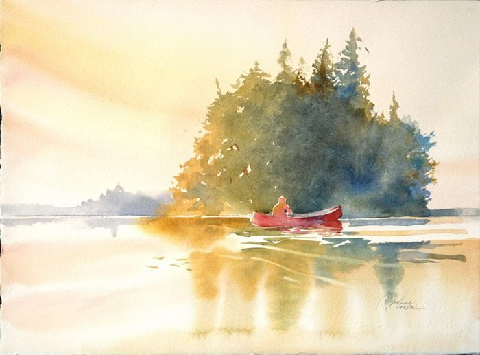 Pin By Ashley Summers On Watercolor Art Watercolor Landscape