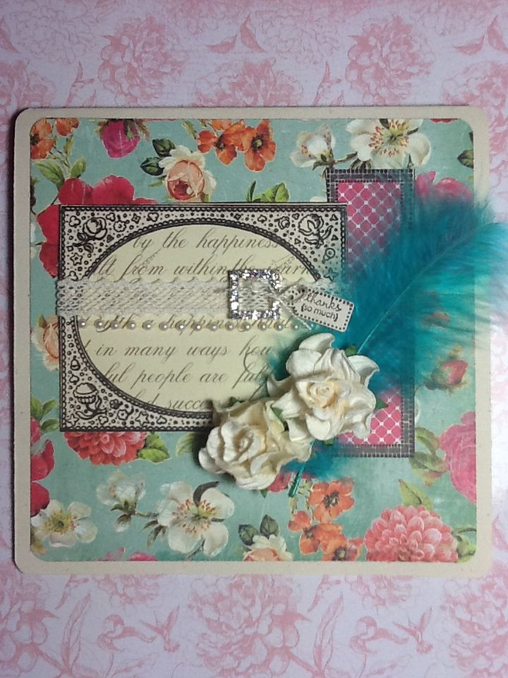 hand made thank you card  decorative boxes thank you