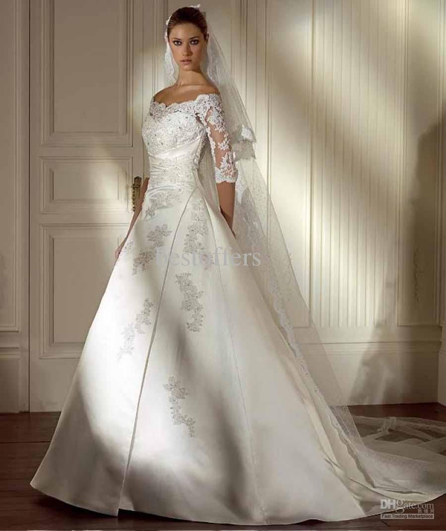 Wedding Dresses With Lace Sleeves Off The Shoulder Wedding Ref