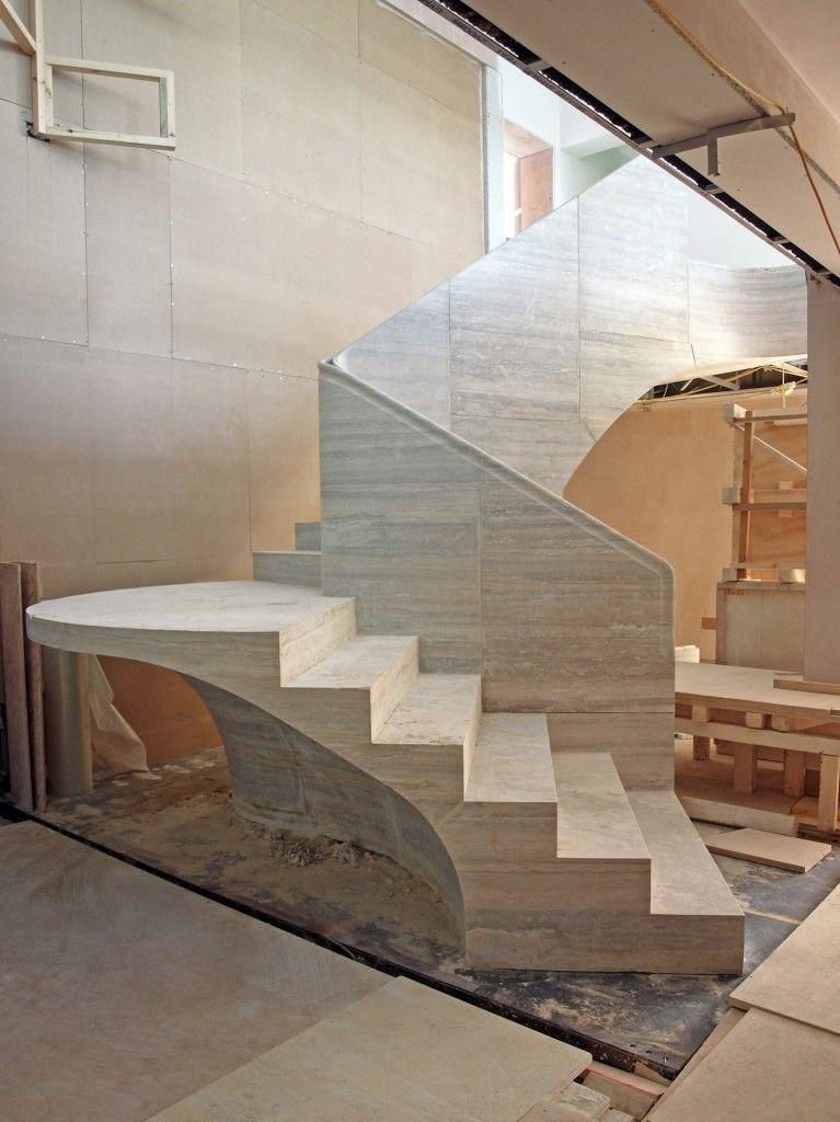 Travertine Stair | Jamie Fobert Architects