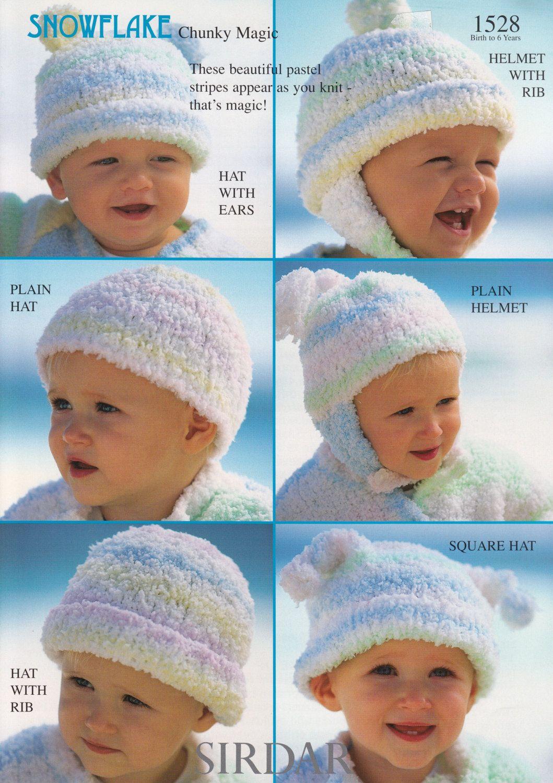 Baby Waistcoat & Hat Knitting Pattern - Sirdar Tiny Tots Funky Fur ...