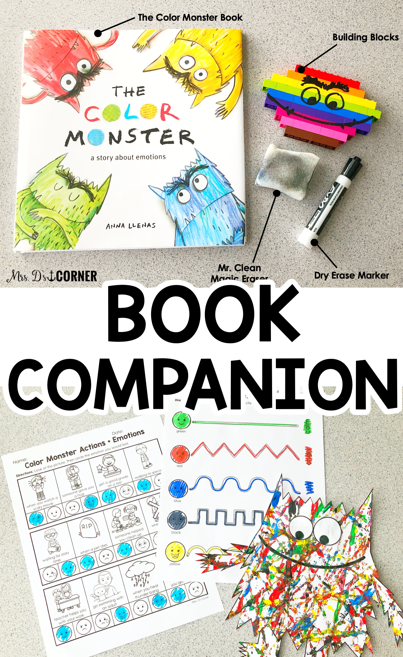 Color Monster Book Companion Visual Craft And Recipe And